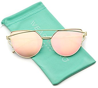 Pretty in pink! Pink mirrored cat eye sunglasses from WearMe Pro are just $9.99 on Amazon Prime!