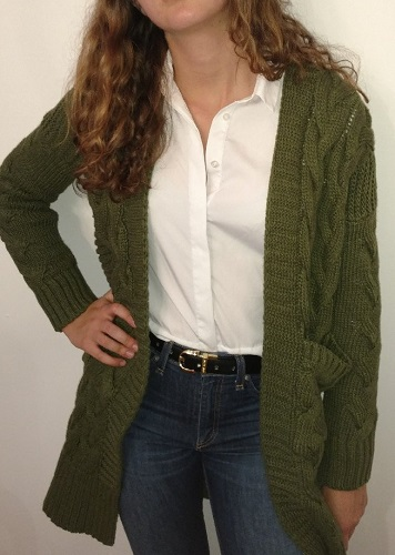 This chunky cardigan from Simplee Appearel is the ultimate fall transitional sweater.