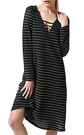 Black swing dress is easy care and perfect for hectic holiday travel, shopping and events