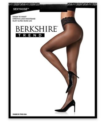 Berkshire Hosiery sheer to waist French lace stockings eliminate visible panty lines