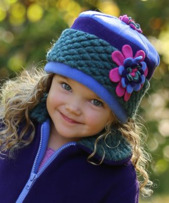 Vera Hat by Tuff Kookooshka, shown in Malachite, would make a much appreciated holiday gift. See more charming! winter hats for kids at Tuff Kookooshka.