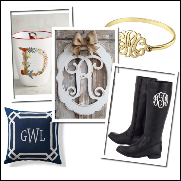 Monograms! Personalized gifts they will LOVE