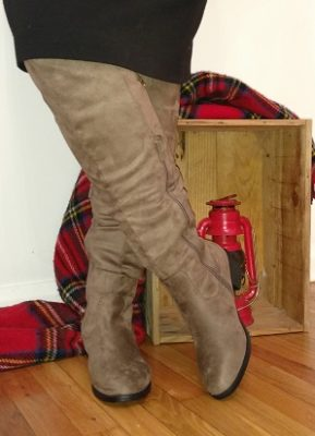 Tall boots are a winter essential!