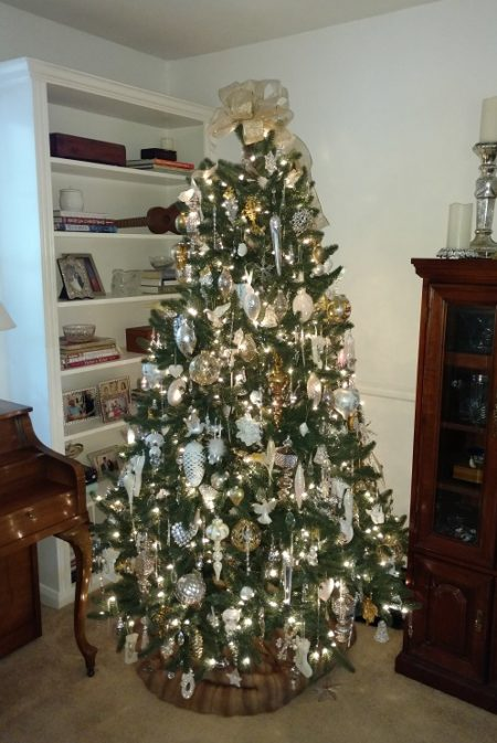An all white Christmas tree is a lovely and sophisticated look