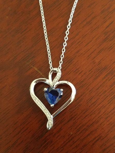 Sterling silver heart necklace Giveaway!