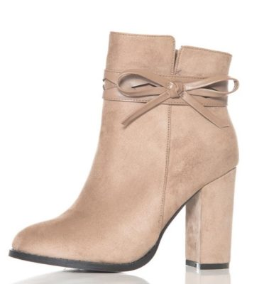 The office dress code is easy to master with these taupe suede boots from Quiz Clothing. They work with everything!