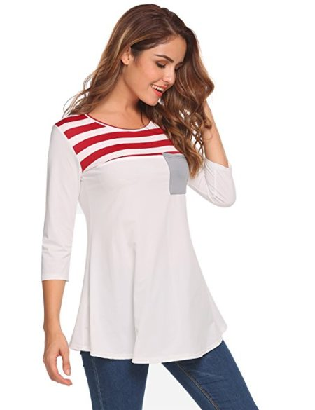 Nautical-Inspired top from Easther is a must-have for spring. Only $18.99!