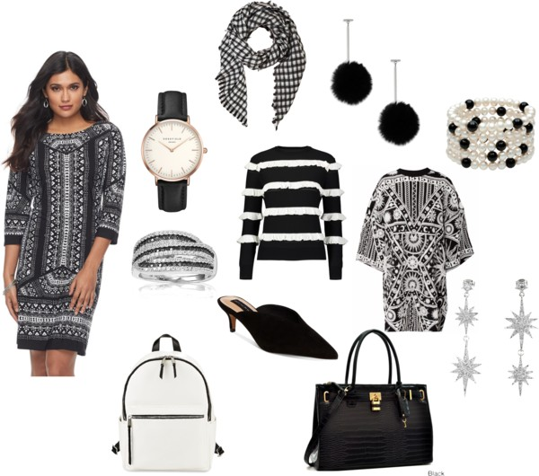 Black and white dressing: Make the winter to spring transition easy... and beautiful!