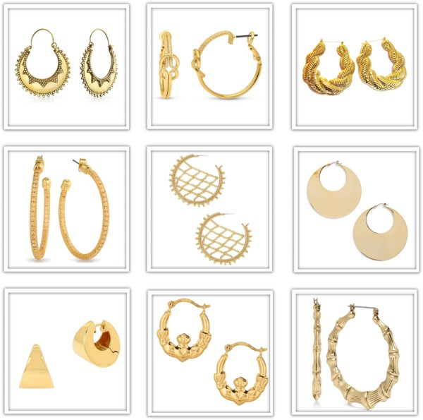 Who says gold hoop earrings have to be plain? 9 oh-so-stylish pairs UNDER $50