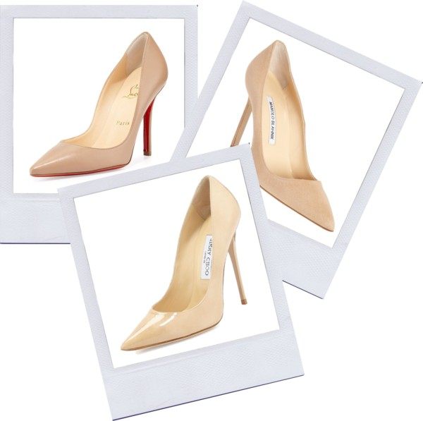 Nude pumps elongate the leg, make you look taller and match everything. What's not to love?