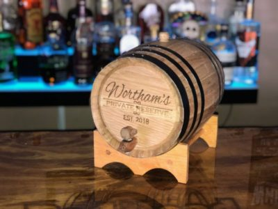 Looking for Father's Day Gifts? Try a customized oak barrel!
