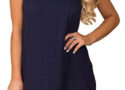 Navy shoft dress if casual but chic, and perfect for outdoor spring events!