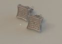 Sterling pave studs, $11.99