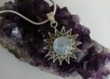 This gorgeous, handcrafted moonstone pendant showcases the unique beauty of the rainbow moonstone. $78 Sitara Collections