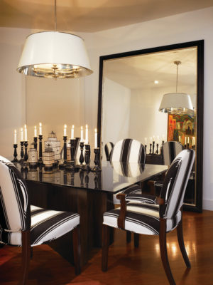 How to use mirrors to make a small space look larger