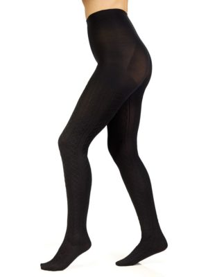 It's the Polar Vortex again! Unfortunately, no matter what the thermometer reads, our office dress code is still firmly in place. Luckily, I found the best solution ever: cozy cable knit tights from Berkshire Hosiery. The heavyweight yarns make these a must-have on frigid, snowy days like today.