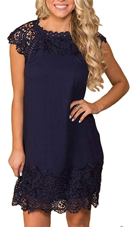 Lace details make ETCYY's shift dress perfect for spring's upscale, outdoor events