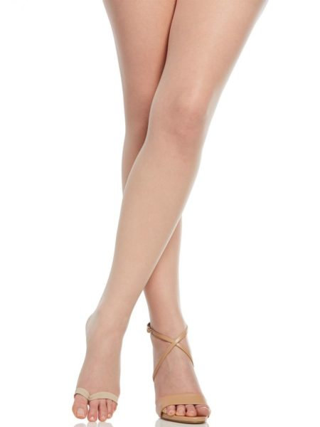 The Easy On! Luxe Ultra Sheer Open Toe Nude Pantyhose