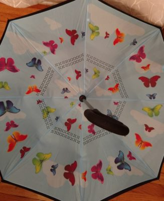 Rain, rain go away? Not if you have this adorable inverted umbrella