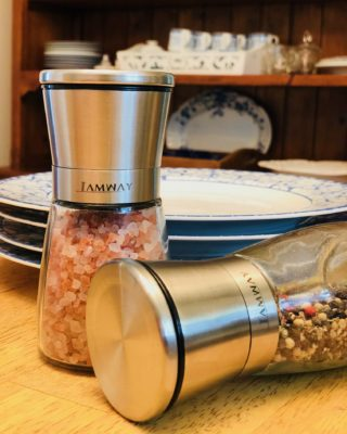 Salt and Pepper Grinders from Kitchen_GO go Beyond Black and White