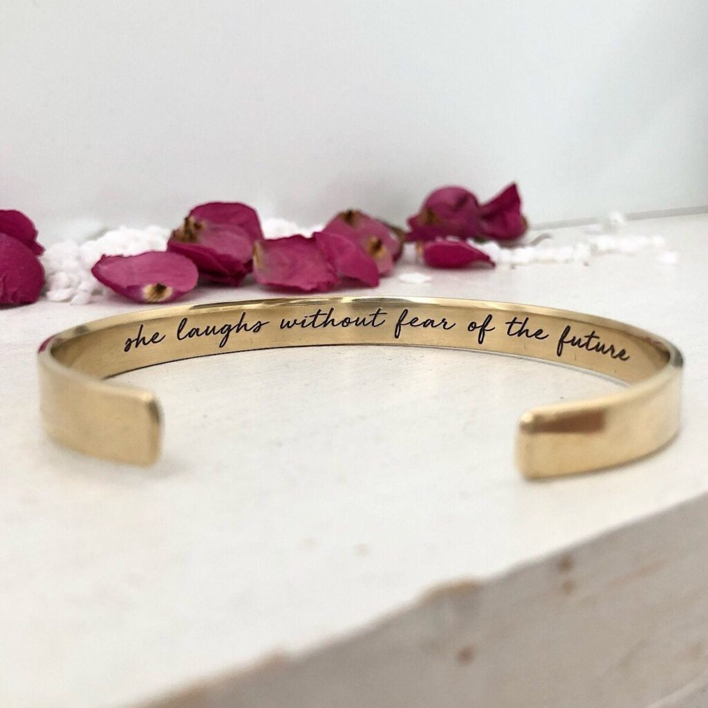 Strength and Dignity Cuff, Isabelle Grace Jewelry